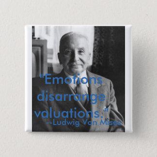 Chapa Cuadrada Citas de Ludwig von Mises