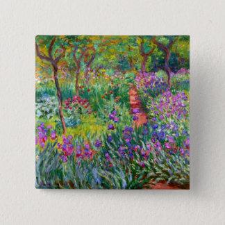 Chapa Cuadrada Claude Monet: El jardín del iris en Giverny