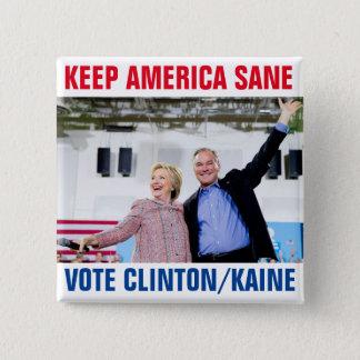 Chapa Cuadrada Clinton/Kaine 2016