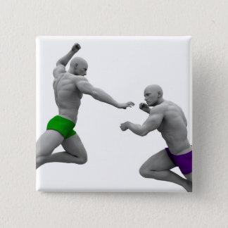 Chapa Cuadrada Concepto de los artes marciales para luchar y la