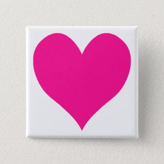 Chapa Cuadrada Corazón de color rosa oscuro lindo