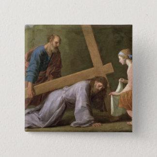 Chapa Cuadrada Cristo que lleva la cruz, c.1651