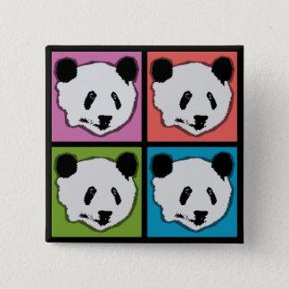 Chapa Cuadrada Cuatro osos de panda gigante