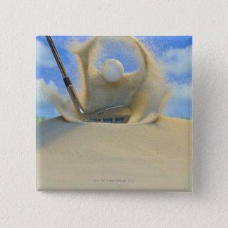Chapa Cuadrada cuña de arena que golpea una pelota de golf fuera