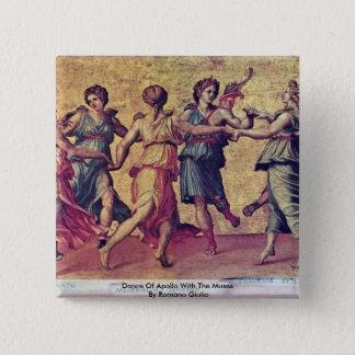 Chapa Cuadrada Danza de Apolo con las musas por el romano Julio