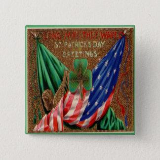 Chapa Cuadrada Día 12 del St Patricks del vintage