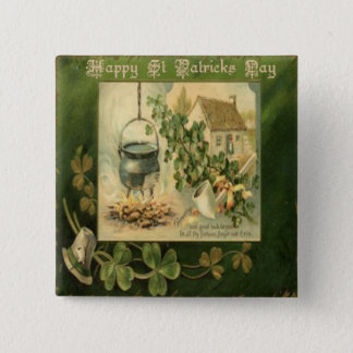Chapa Cuadrada Día 6 del St Patricks del vintage