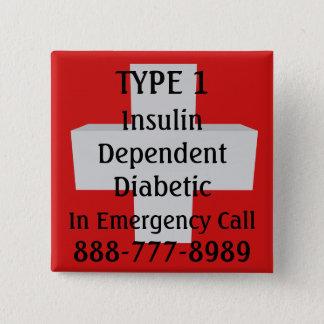 Chapa Cuadrada Diabético dependiente del TIPO 1 de la insulina