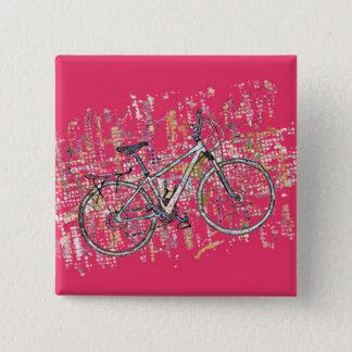 Chapa Cuadrada Dibujo colorido de la bici