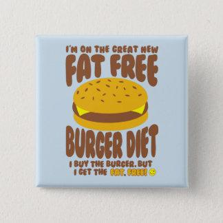 Chapa Cuadrada Dieta sin grasa de la hamburguesa