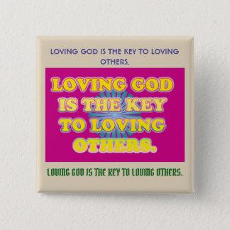 Chapa Cuadrada Dios cariñoso es la llave a amar otros