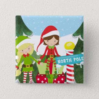 Chapa Cuadrada Dos duendes en el Polo Norte