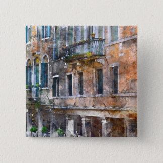 Chapa Cuadrada Edificios de Venecia Italia