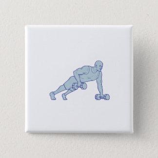 Chapa Cuadrada El atleta de la aptitud empuja hacia arriba un