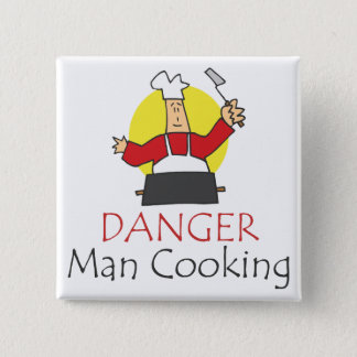 Chapa Cuadrada El cocinar del hombre del peligro