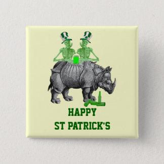 Chapa Cuadrada El día de los esqueletos de St Patrick gótico