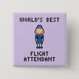 Chapa Cuadrada El mejor asistente del vuelo del mundo