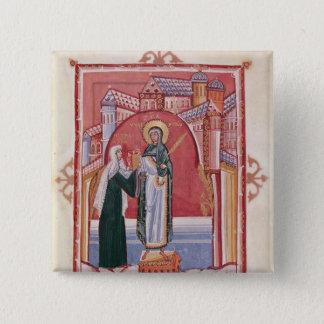 Chapa Cuadrada El ofrecimiento de Hilda de la abadesa