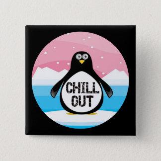 Chapa Cuadrada El pingüino enfría hacia fuera los regalos