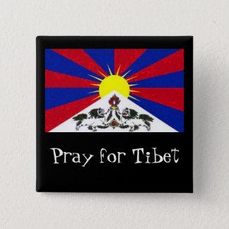 Chapa Cuadrada el tibetflag, ruega para Tíbet