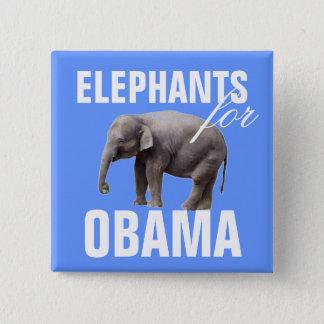 Chapa Cuadrada Elefantes para Obama