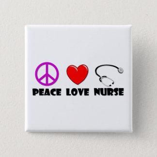 Chapa Cuadrada Enfermera del amor de la paz