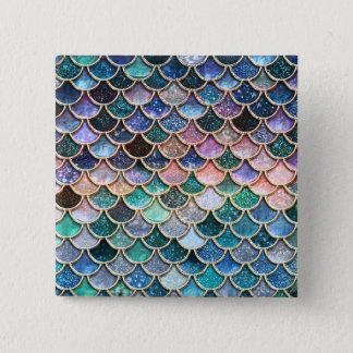Chapa Cuadrada Escalas multicoloras de lujo de la sirena del