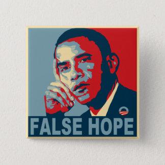 Chapa Cuadrada Esperanza falsa Obama