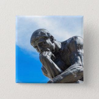 Chapa Cuadrada Estatua del pensador de Rodin