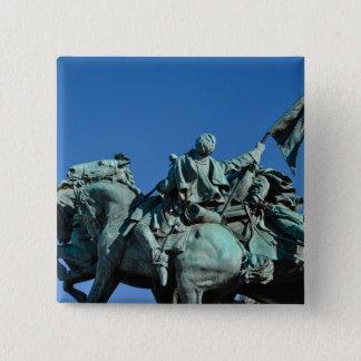 Chapa Cuadrada Estatua del soldado de la guerra civil en