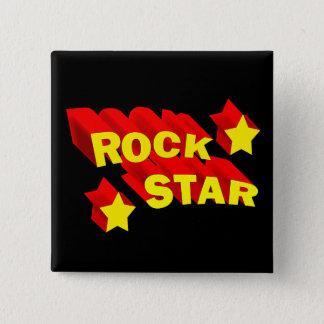 Chapa Cuadrada Estrella del rock
