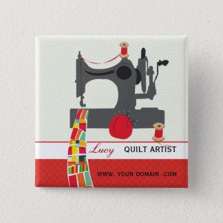 Chapa Cuadrada Etiqueta del nombre del artista del arte del