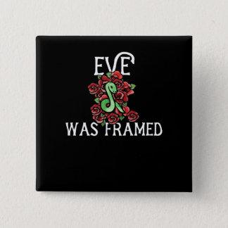 Chapa Cuadrada Eve fue enmarcado
