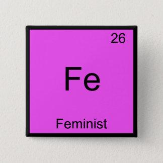 Chapa Cuadrada FE - Camiseta divertida feminista del símbolo del