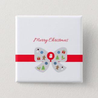 Chapa Cuadrada Felices Navidad