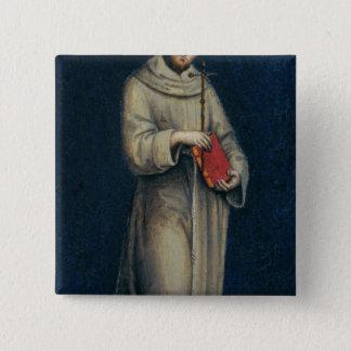 Chapa Cuadrada Figura de un monje franciscano
