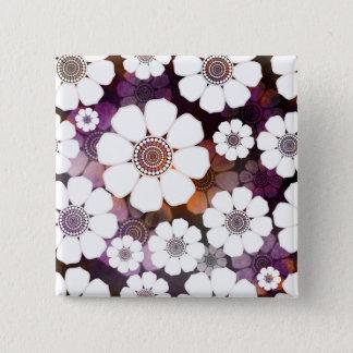 Chapa Cuadrada Flower power púrpura enrrollado