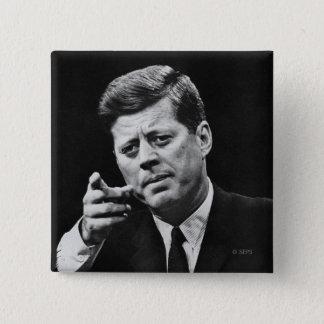 Chapa Cuadrada Fotografía de John F. Kennedy 3