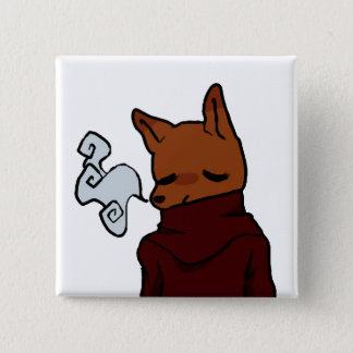 Chapa Cuadrada Fox frío (botón cuadrado de 2 pulgadas)