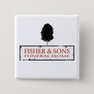 Chapa Cuadrada Funeraria de Fisher y de los hijos
