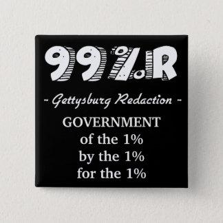 Chapa Cuadrada Gobierno de la dirección de Gettysburg del 1% para