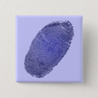 Chapa Cuadrada Gráfico de la huella dactilar