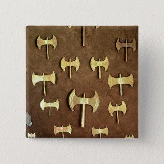Chapa Cuadrada Hachas dobles miniatura