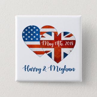 Chapa Cuadrada Harry y boda de Meghan, el 19 de mayo de 2018