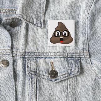 Chapa Cuadrada Impulso Emoji de los vidrios oh