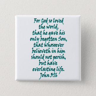 Chapa Cuadrada Inglés del 3:16 de Juan