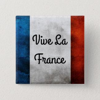 Chapa Cuadrada Insignia de Francia del La de Vive