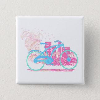 Chapa Cuadrada Insignia del diseño   de la bicicleta