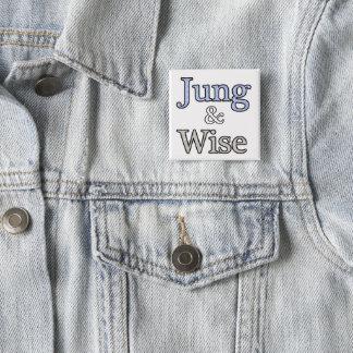 Chapa Cuadrada Jung y logotipo sabio
