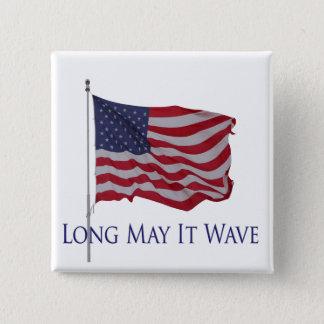 Chapa Cuadrada la bandera americana, puede él agitar de largo el